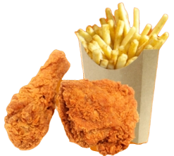 2 Pcs Chicken with fries